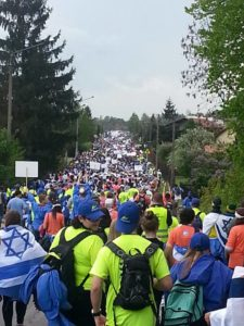 Image of The March from Auschwitz to Birkenau on Yom Hashoah.