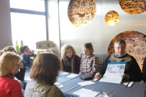 Image of Radom Poland Luncheon with Teachers and student from School of dialog