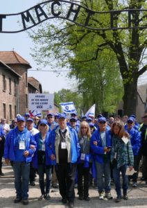 Image of Leading the way to Birkenau from Auschwitz 2016
