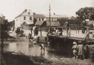 Image of Wooden foot bridge in Maciejowice, one of the oldest Jewish settlements in Lublin province.