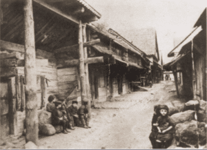 Image of Zablludow, 1916. A town famous for its seventeenth-century wooden synagogue.