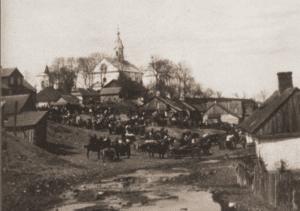 Image of Market day in Hrubiesz, 1925.