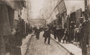 Image of Jatkowa (Meatmarket) Street in the old Jewish quarter of Vilna.