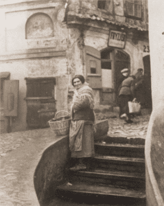 Image of The Jewish quarter in the old section of Lublin, 1938.