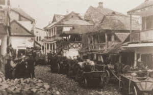 Image of Market day in Kremieniec, 1925. One of the oldest settlements in eastern Poland.
