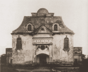 Image of The synagogue in Orla. Originally a Calvinist church, the building was sold to the Jews of Orla in 1732.