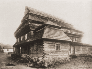 Image of Exterior of the Eighteenth-century wooden synagogue in Jeziory.
