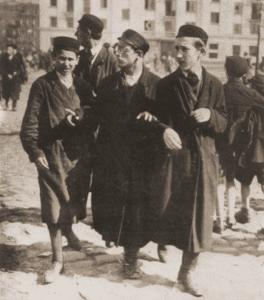 Image of Yeshivah students on Nalewki Street. Warsaw, 1928.