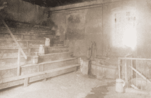 Image of The interior of the old mikve (ritual bath) in Zaleszczyki.