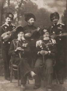 Image of Purim- shpiler in Szydlowiec, 1937.