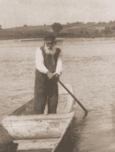 Image of Khayim, an old ferryman, on the Vistula River near Kaszimierz nad Wisla.