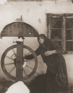 Image of Women spinning cord, 1938.