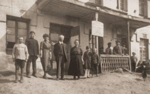 Image of C. Nachumowski, the Jewish propietress of an inn. Lubcza, 1930s.