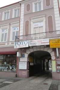 Image of Radom Poland in front of Irv's aunt's and uncle's store 9 Zermskeigo Street