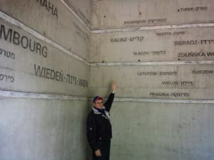 Image of Lodz Holocaust memorial at Radegast train station where Approximately 200,000 Polish, Austrian, German, Luxemburg and Czech Jews passed through the station on the way to their deaths in the period from January 16, 1942, to August 29, 1944.