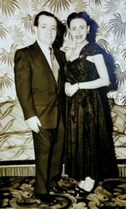 Image of Irv's dad and mom 10 years after the war is over in NY Copa cabana night club.