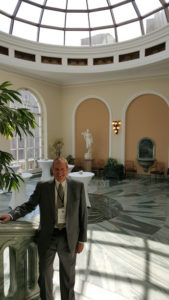 Image of Irv in Warsaw Presidential Palace receptional hall
