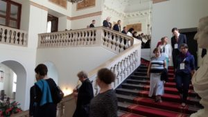 Image of Forum for Dialog in Presidential Place staircase.