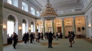 Image of Forum for dialog in Warsaw visiting former Polish President Alksanfer Kwasniewski who joined the EU in 2004.