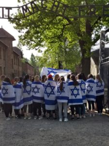 Image of MOTL New England students visit the Auschwitz death camp.