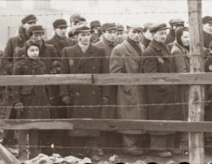 Image of People with Jewish star behind barbwire