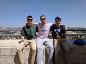 Image of NE MOTL teens at Haas Promenade Jerusalem.