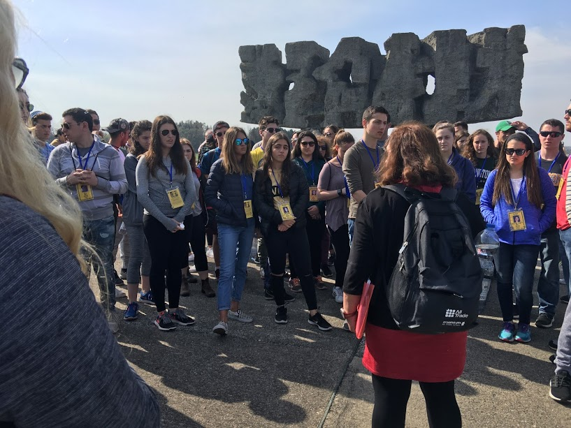 Participants in Treblinka from 2018 March of the Living trip