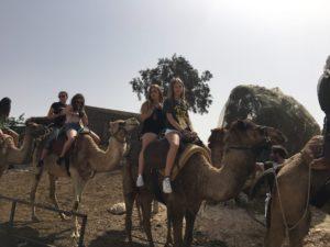 Image of NE MOTL teens in Israel at Abraham's tent.