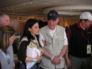 Image of Survivor Sid Handler with Adult Marcher in Israel
