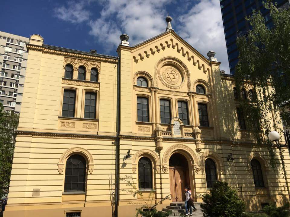 Image of The Nożyk Synagogue, the only surviving prewar Jewish house of prayer in Warsaw, Poland.